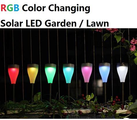 lawn lights solar solar led lawn light rgb led pathway lights rowe lighting