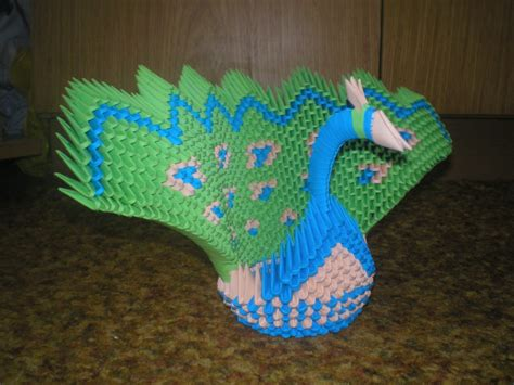 peacock origami 3d origami peacock diagram www imgkid the image