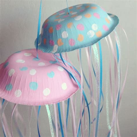 paper jellyfish craft paper bowl jellyfish for