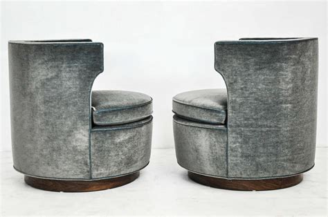 wingback swivel chair wingback swivel chairs attributed to harvey probber at 1stdibs