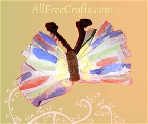 all free crafts dryer sheet butterflies all free crafts