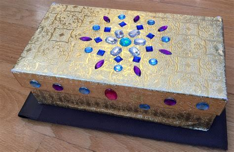 kid craft box recycled treasure box