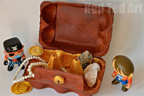 treasure chest craft for egg crafts treasure box