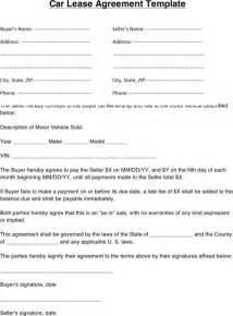 vehicle lease agreement for excel pdf and word