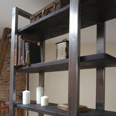 freestanding shelving unit industrial style freestanding shelving unit by cosywood