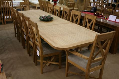 large dining table seats 12 1 4m 8 seater square oak table now replaced by a 130cm