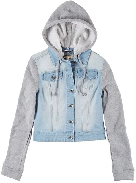 knit sleeve hooded denim jacket 1000 images about layer up for fall on