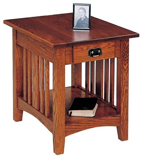 free woodworking plans for end tables mission end table plans diywoodtableplans