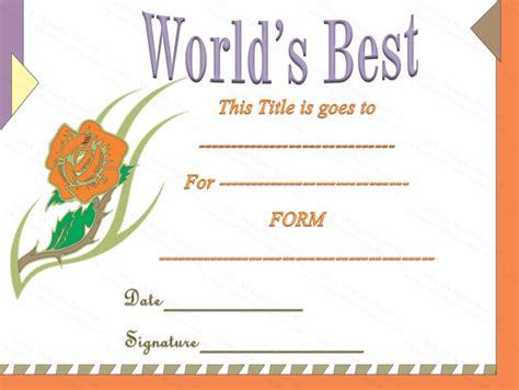 best certificate templates classic world s best award certificate template