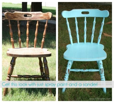 spray painting wood chairs chalky finish chair makeover