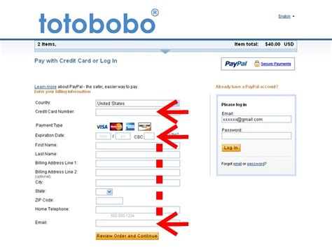how to make payment to credit card how to pay totobobo with a credit card