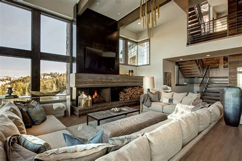 interior design mountain homes mountain modern home in park city lets you ski to your door