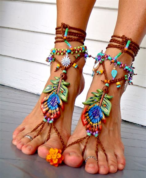 how to make barefoot sandals jewelry peacock barefoot sandals peacock feather wedding sole
