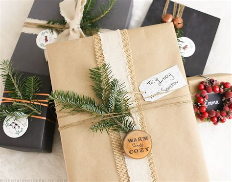 rustic gift wrapping ideas mountain modern