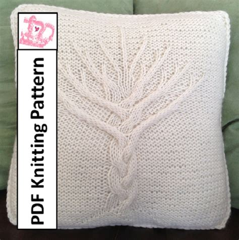 tree of knitting pattern tree of knit pattern tree of pillow cover knitting