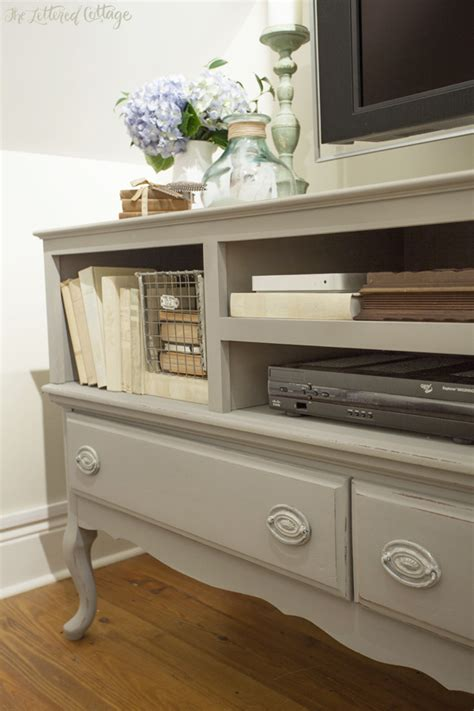 chalk paint tv stand the credenza turned tv stand is painted with sloan s