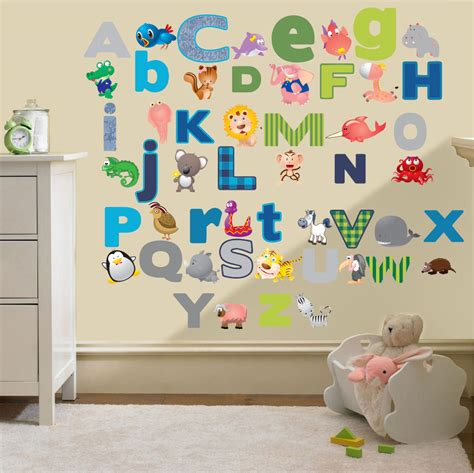 childrens nursery wall stickers childrens alphabet letters wall stickers decals nursery