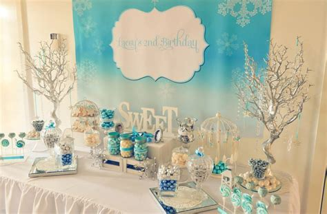 Frozen Winter Wonderland Printable Backdrop   Little Dimple Designs