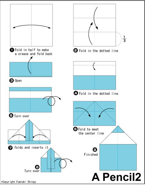 how to make a origami pencil pencil 2 easy origami for