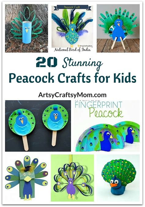 peacock crafts for 20 stunning peacock crafts for artsy craftsy