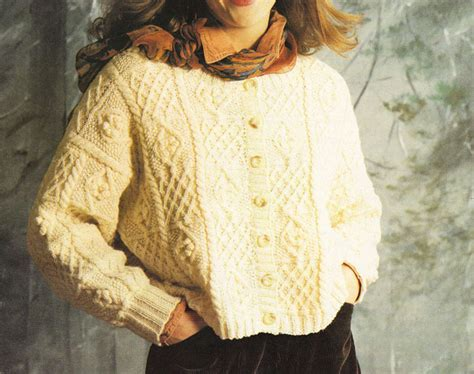 one cardigan knitting pattern aran style crop cardigan knitting pattern to knit