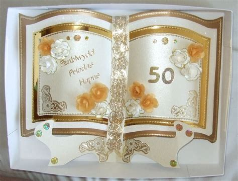 golden wedding cards to make a mixture of items crefftau maes mieri crafts