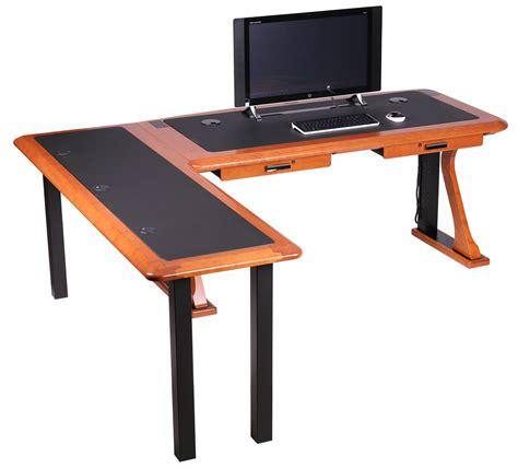 computer desk l artistic computer desk l shaped left caretta workspace