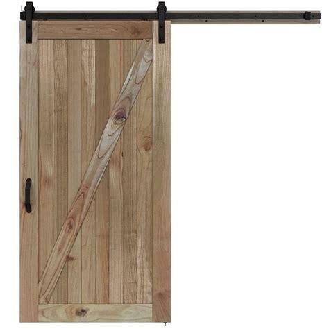 barn door wood jeld wen 42 in x 84 in rustic unfinished wood barn door