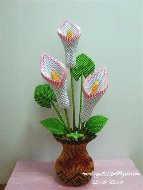 3d flower origami 3d origami calla lil album nga 3d origami