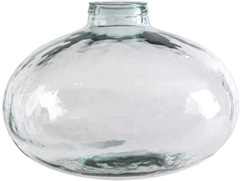 large glass dimpled glass vase large goldfish bowl glass vase