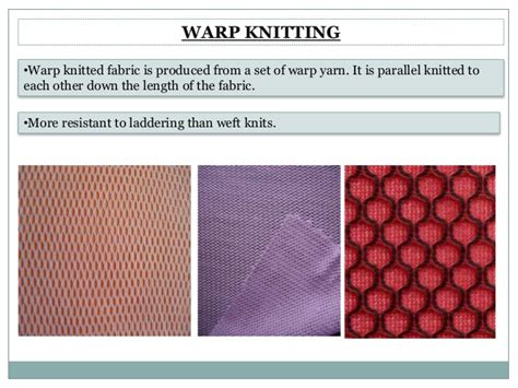 different types of knitted fabrics knitting types