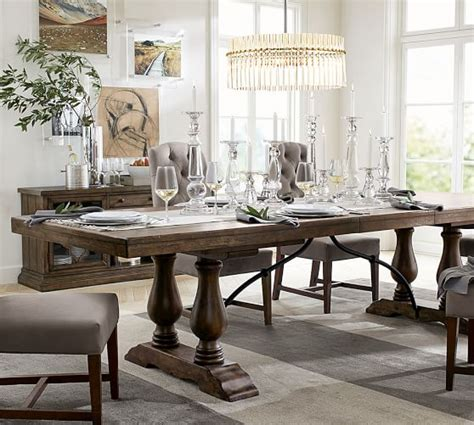 dining room table pottery barn lorraine extending dining table pottery barn