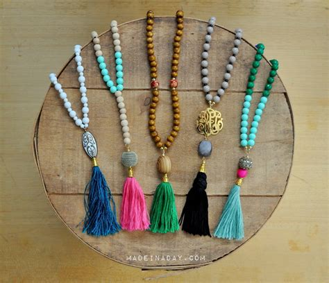 how to make a beaded chain necklace diy beaded tassel necklaces