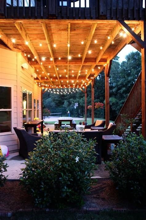 patio light ideas great idea for lighting the deck dwell