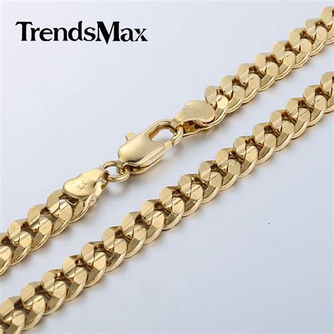 gold filled for jewelry aliexpress buy trendsmax 6mm boys mens chain curb