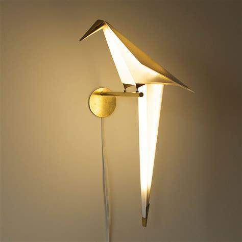 origami lights bird shaped swinging origami light by umut yamac