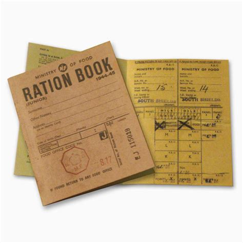 pictures of ration books reproduction ration book peeks