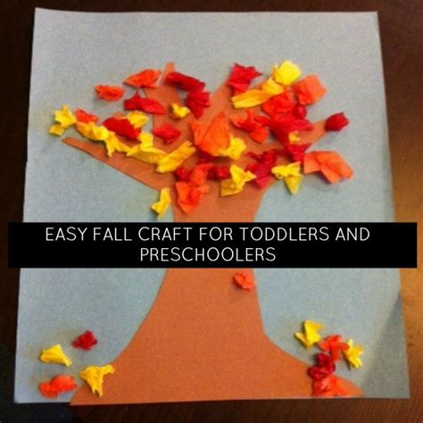 simple fall crafts for easy fall craft for toddlers and preschoolers momstown