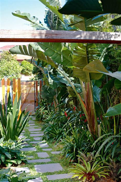 garden ideas for side of house 1000 ideas about tropical backyard on pool