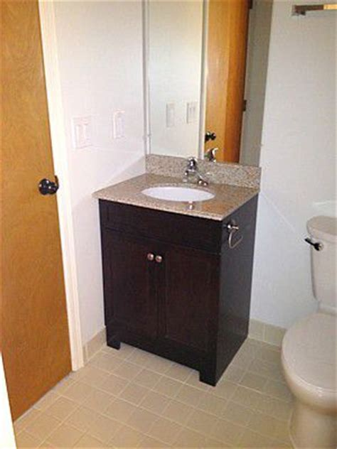 how to install a bathroom vanity and sink how to replace and install a bathroom vanity and sink