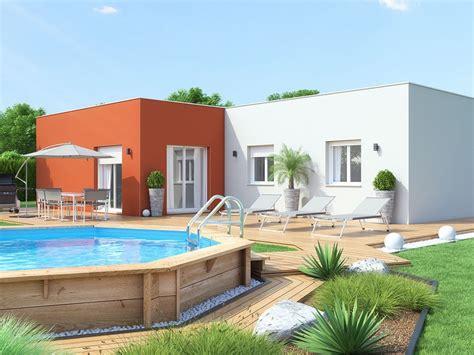 constructeur maison contemporaine toit plat avec pasio gascity for
