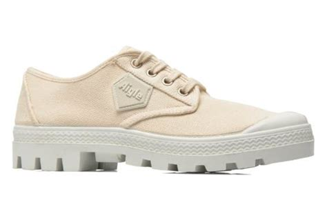 lace rubber st aigle rubber germain low w lace up shoes in beige at