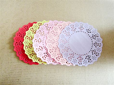 paper doilies crafts free shipping mixed coloured absorbing 5colors lace
