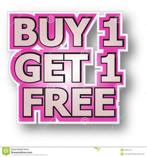one free buy 1 get 1 free stock vector image of promotions