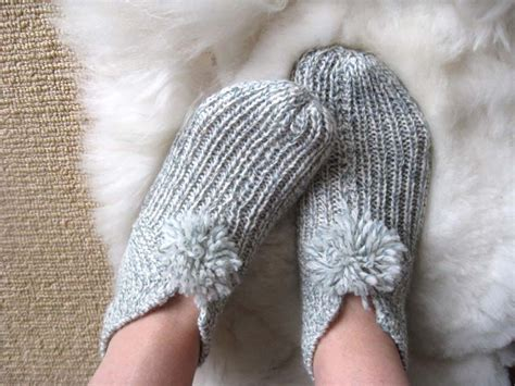 knitted slipper pattern big slippers