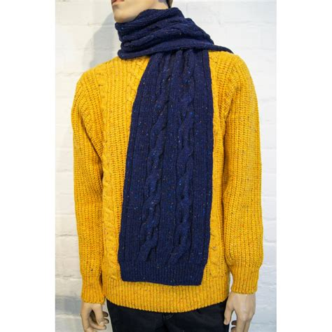 donegal knit viyella donegal wool cable knit scarf viyella from
