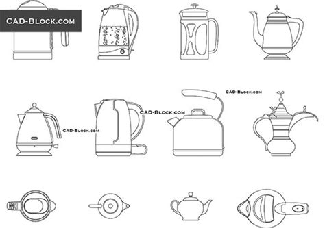 Kitchen And Home Interiors appliances cad blocks free download