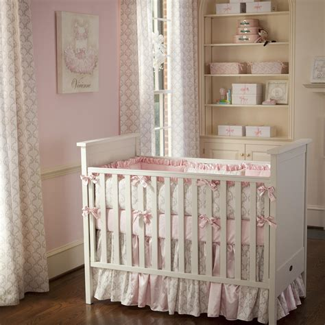 crib bedding for baby pink and taupe damask crib bedding crib bedding