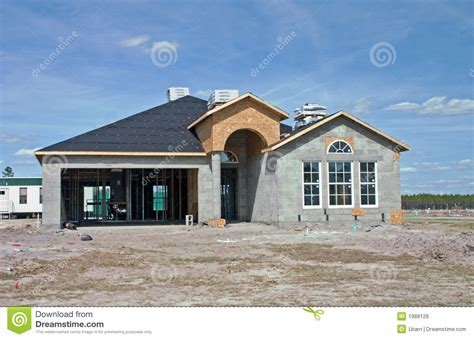 houde home construction new concrete block home construction stock photo image