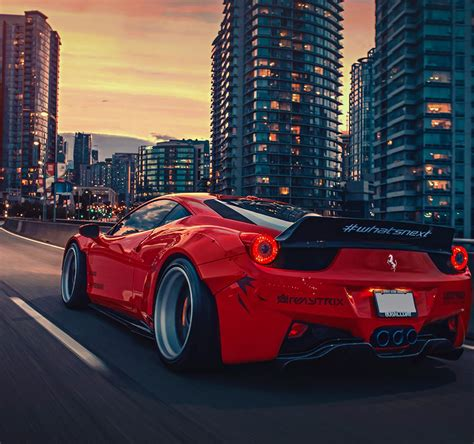 Moto E Car Wallpapers by Best 458 Liberty Walk Wide Wide Car Wallpapers